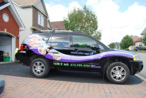 Vehicle wrap for Slim N' Go.