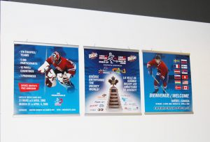 Banners for CARHA Hockey World Cup.