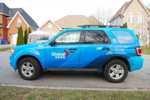Vehicle wrap for Global News.